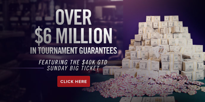 Over $6 Million in Tournament Gruarantees